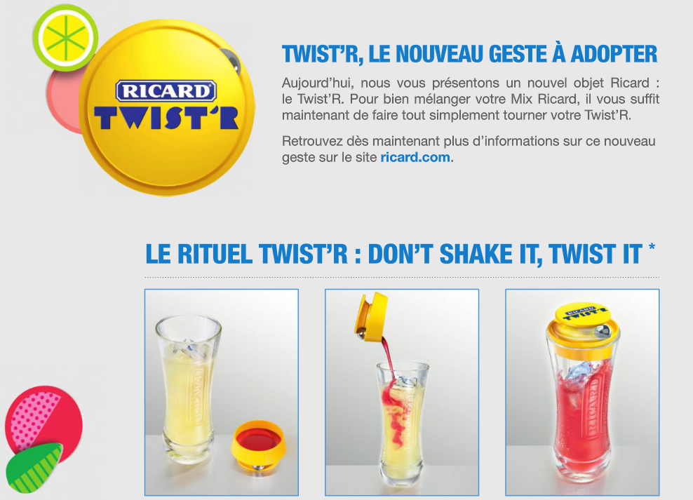 Ricard Twister innovation packaging spiritueux