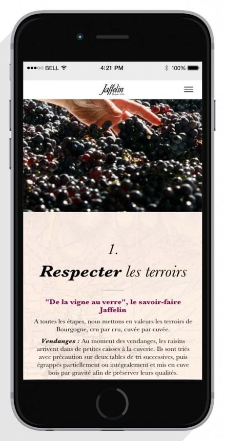 Smartphone-web-agency-wine-luxury